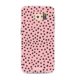 FOONCASE Samsung Galaxy S6 - POLKA COLLECTION / Rosa