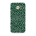FOONCASE Samsung Galaxy S6 - POLKA COLLECTION / Dunkelgrün