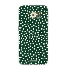 FOONCASE Samsung Galaxy S6 - POLKA COLLECTION / Verde scuro