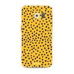 FOONCASE Samsung Galaxy S6 - POLKA COLLECTION / Oker Geel