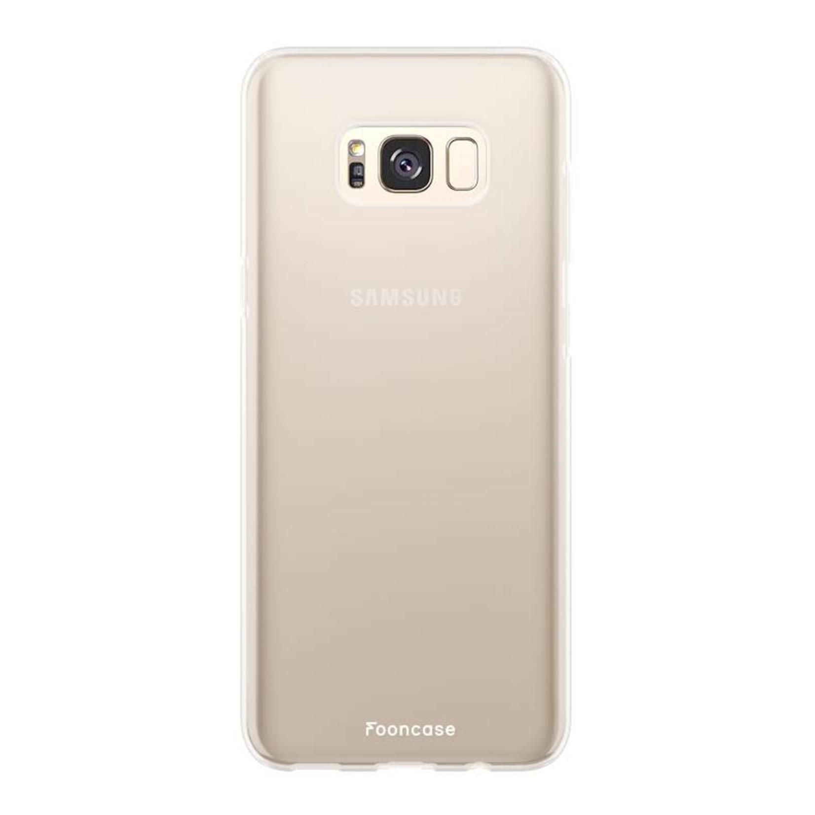 FOONCASE Samsung Galaxy S8 Plus hoesje TPU Soft Case - Back Cover - Transparant / Doorzichtig