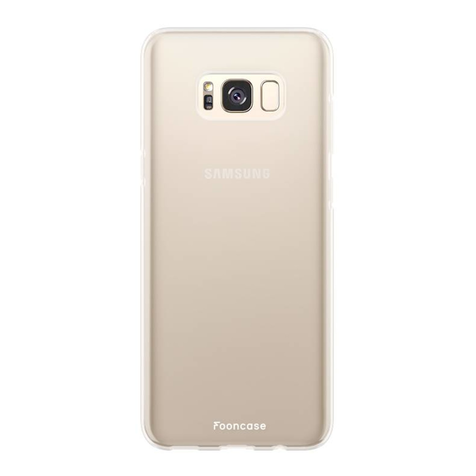 FOONCASE Samsung Galaxy S8 hoesje TPU Soft Case - Back Cover - Transparant / Doorzichtig