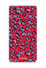 FOONCASE Huawei P8 Lite 2016 hoesje TPU Soft Case - Back Cover - WILD COLLECTION / Luipaard / Leopard print / Rood