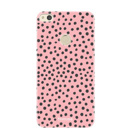 FOONCASE Huawei P8 Lite 2017 - POLKA COLLECTION / Roze