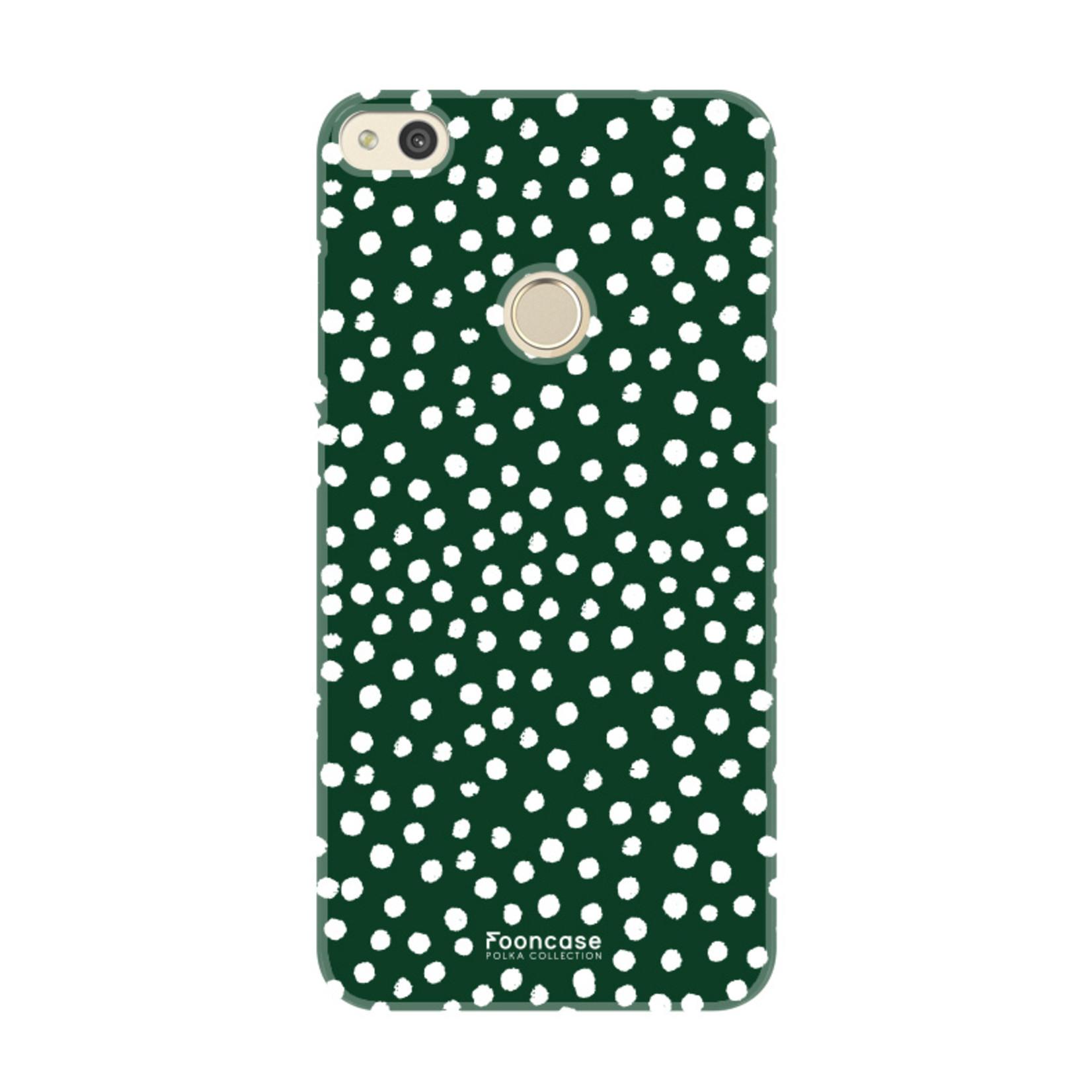FOONCASE Huawei P8 Lite 2017 - POLKA COLLECTION / Grün
