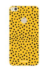 FOONCASE Huawei P8 Lite 2017 hoesje TPU Soft Case - Back Cover - POLKA COLLECTION / Stipjes / Stippen / Okergeel