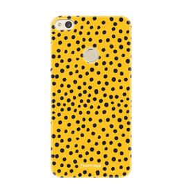 FOONCASE Huawei P8 Lite 2017 - POLKA COLLECTION / Ocher yellow