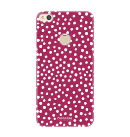 FOONCASE Huawei P8 Lite 2017 - POLKA COLLECTION / Red