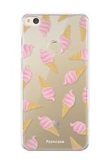 FOONCASE Huawei P8 Lite 2017 hoesje TPU Soft Case - Back Cover - Ice Ice Baby / Ijsjes / Roze ijsjes