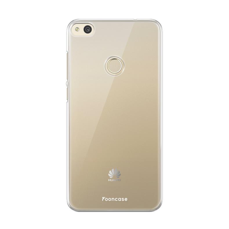 FOONCASE Huawei P8 Lite 2017 hoesje TPU Soft Case - Back Cover - Transparant / Doorzichtig