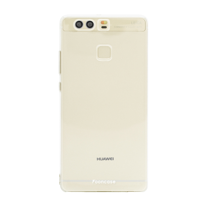 FOONCASE Huawei P9 hoesje TPU Soft Case - Back Cover - Transparant / Doorzichtig