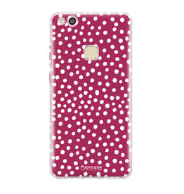 FOONCASE Huawei P10 Lite - POLKA COLLECTION / Rosso