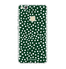 FOONCASE Huawei P10 Lite - POLKA COLLECTION / Groen