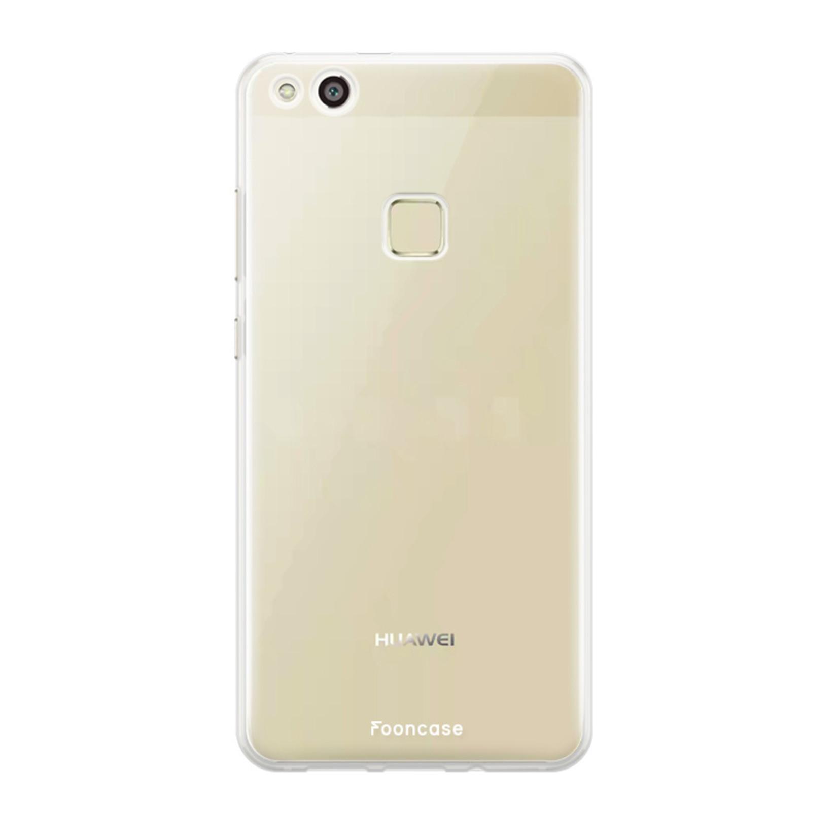 FOONCASE Huawei P10 Lite hoesje TPU Soft Case - Back Cover - Transparant / Doorzichtig