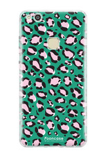 FOONCASE Huawei P10 Lite hoesje TPU Soft Case - Back Cover - WILD COLLECTION / Luipaard / Leopard print / Groen