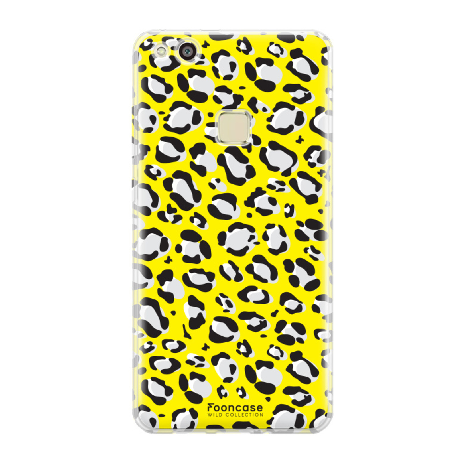 FOONCASE Huawei P10 Lite hoesje TPU Soft Case - Back Cover - WILD COLLECTION / Luipaard / Leopard print / Geel