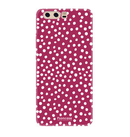 FOONCASE Huawei P10 - POLKA COLLECTION / Rood