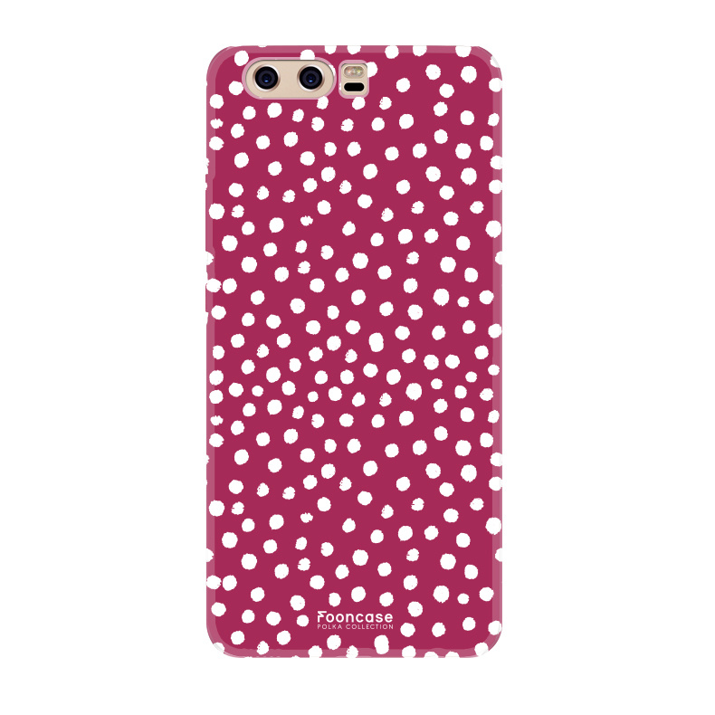 Huawei Huawei P10 - POLKA COLLECTION / Rood