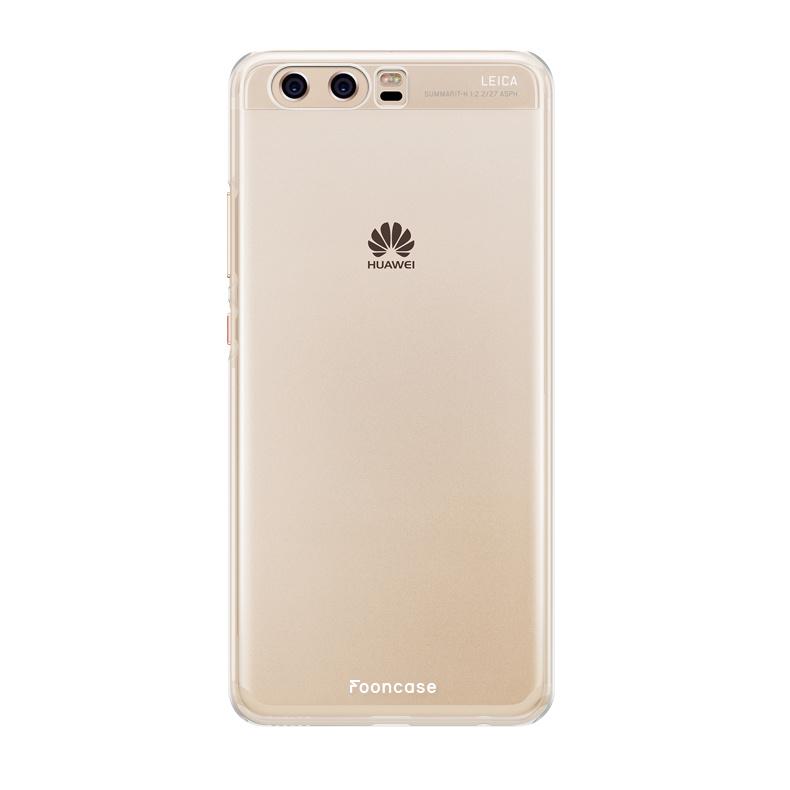 FOONCASE Huawei P10 hoesje TPU Soft Case - Back Cover - Transparant / Doorzichtig