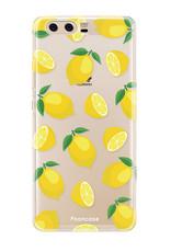 FOONCASE Huawei P10 hoesje TPU Soft Case - Back Cover - Lemons / Citroen / Citroentjes