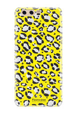 FOONCASE Huawei P10 hoesje TPU Soft Case - Back Cover - WILD COLLECTION / Luipaard / Leopard print / Geel
