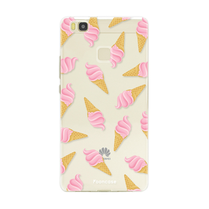 FOONCASE Huawei P9 Lite hoesje TPU Soft Case - Back Cover - Ice Ice Baby / Ijsjes / Roze ijsjes
