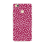 FOONCASE Huawei P9 Lite - POLKA COLLECTION / Red