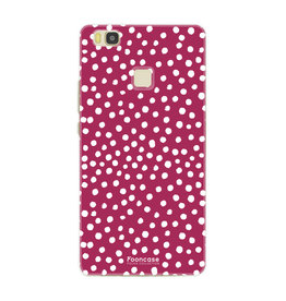 FOONCASE Huawei P9 Lite - POLKA COLLECTION / Rosso
