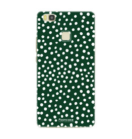 FOONCASE Huawei P9 Lite - POLKA COLLECTION / Green
