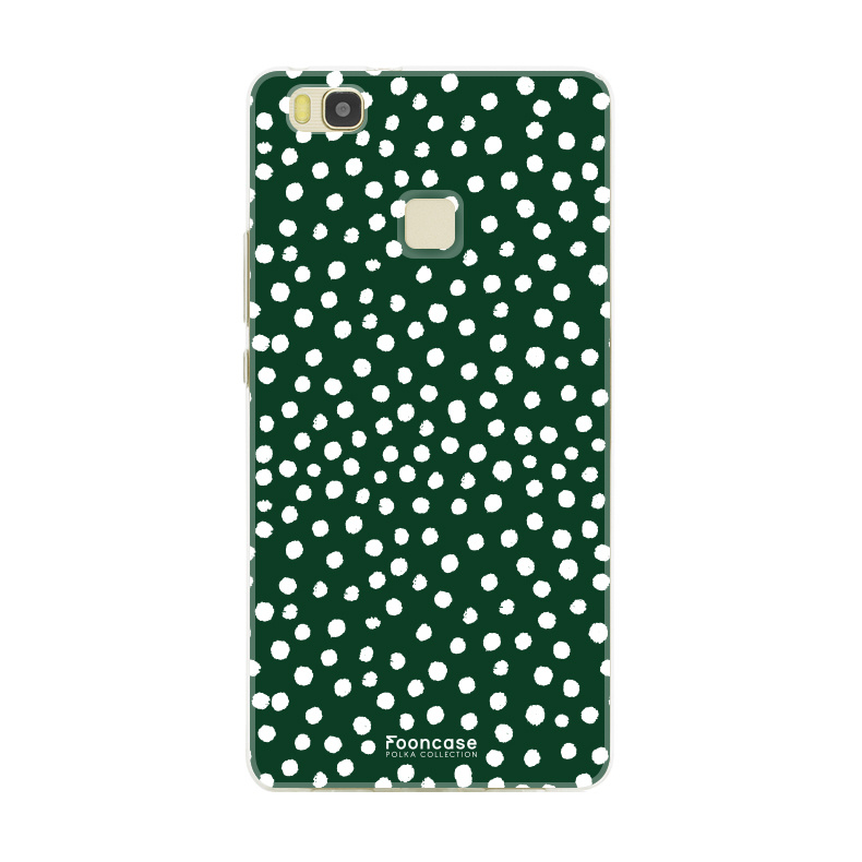 FOONCASE Huawei P9 Lite hoesje TPU Soft Case - Back Cover - POLKA COLLECTION / Stipjes / Stippen / Groen