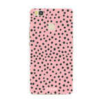 FOONCASE Huawei P9 Lite - POLKA COLLECTION / Rosa