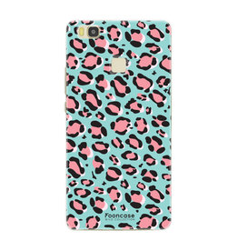 FOONCASE Huawei P9 Lite - WILD COLLECTION / Blauw