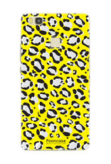 FOONCASE Huawei P9 Lite hoesje TPU Soft Case - Back Cover - WILD COLLECTION / Luipaard / Leopard print / Geel