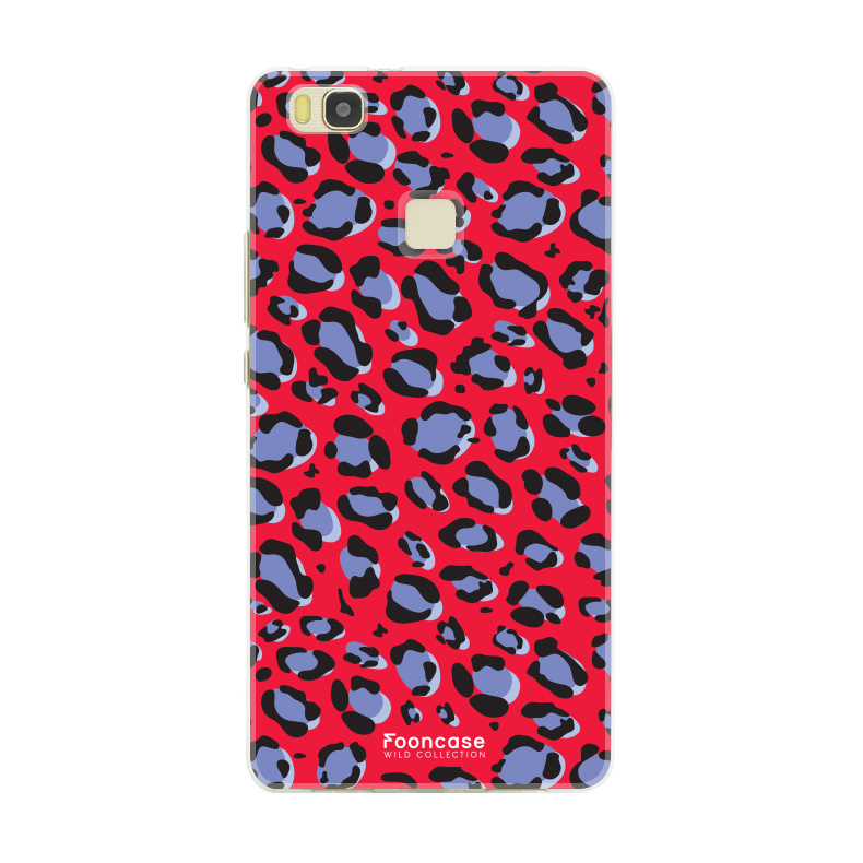 FOONCASE Huawei P9 Lite hoesje TPU Soft Case - Back Cover - WILD COLLECTION / Luipaard / Leopard print / Rood