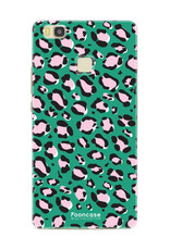 FOONCASE Huawei P9 Lite hoesje TPU Soft Case - Back Cover - WILD COLLECTION / Luipaard / Leopard print / Groen