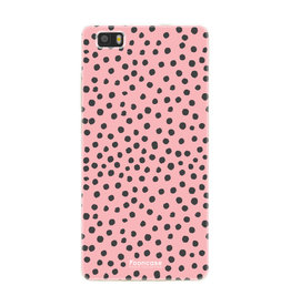 FOONCASE Huawei P8 Lite 2016 - POLKA COLLECTION / Roze