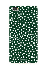 FOONCASE Huawei P8 Lite 2016 hoesje TPU Soft Case - Back Cover - POLKA COLLECTION / Stipjes / Stippen / Groen
