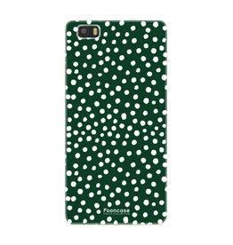 FOONCASE Huawei P8 Lite 2016 - POLKA COLLECTION / Groen