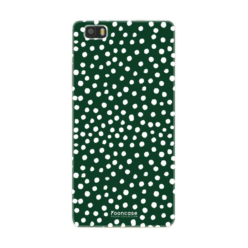 FOONCASE Huawei P8 Lite 2016 - POLKA COLLECTION / Grün