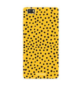 FOONCASE Huawei P8 Lite 2016 - POLKA COLLECTION / Ocher yellow