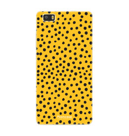 FOONCASE Huawei P8 Lite 2016 - POLKA COLLECTION / Ockergelb