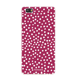 FOONCASE Huawei P8 Lite 2016 - POLKA COLLECTION / Rosso
