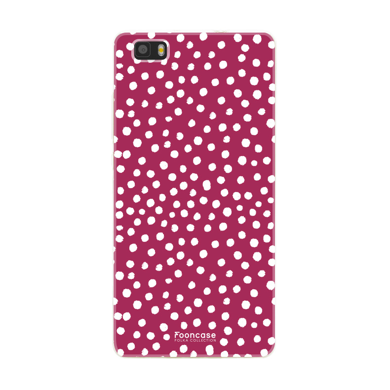 Huawei Huawei P8 Lite 2016 - POLKA COLLECTION / Rood
