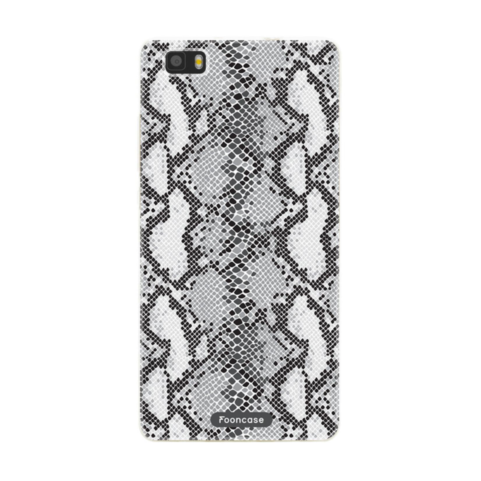 FOONCASE Huawei P8 Lite 2016 hoesje TPU Soft Case - Back Cover - Snake it / Slangen print