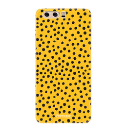 FOONCASE Huawei P10 - POLKA COLLECTION / Okergeel
