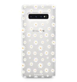 FOONCASE Samsung Galaxy S10 Plus - Madeliefjes