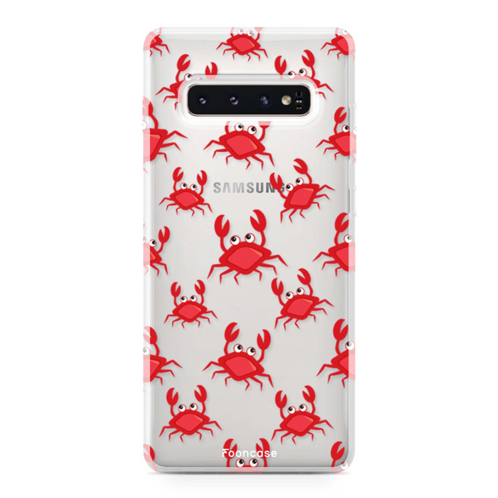 FOONCASE Samsung Galaxy S10 Plus hoesje TPU Soft Case - Back Cover - Crabs / Krabbetjes / Krabben