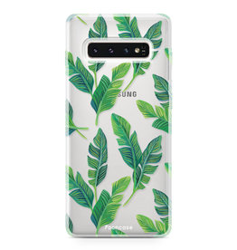 FOONCASE Samsung Galaxy S10 Plus - Banana leaves