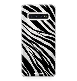 FOONCASE Samsung Galaxy S10 Plus - Zebra