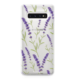 FOONCASE Samsung Galaxy S10 Plus - Purple Flower